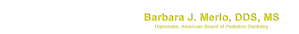 Services page logo for pediatric dentist Dr. Barbara J. Merlo